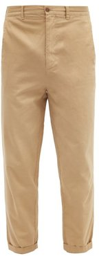 Tapered-leg Cotton Chino Trousers - Mens - Beige
