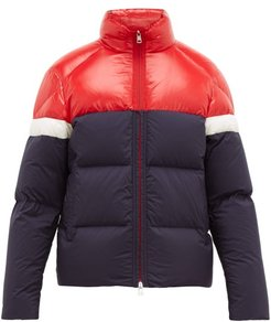 Konic Contrast-panel Quilted-down Coat - Mens - Navy Multi