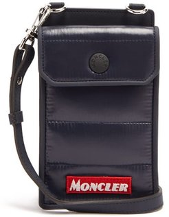 Appliqué-logo Padded Phone Pouch - Mens - Navy