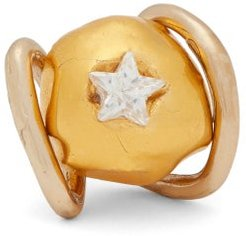 Abiquiu Polished-bronze & Crystal Ring - Womens - Gold