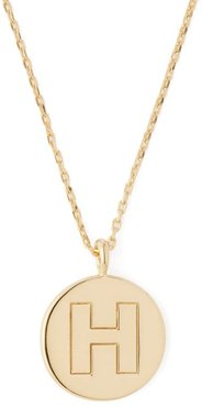 H-charm Gold-plated Necklace - Womens - Gold