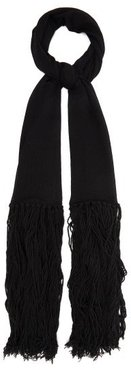Tasselled Cashmere And Wool-blend Scarf - Womens - Black