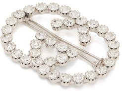 GG Crystal-embellished Hair Clip - Womens - Crystal
