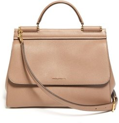 Sicily Small Leather Bag - Womens - Dusty Pink