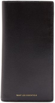 Fleming Textured-leather Wallet - Mens - Black Multi