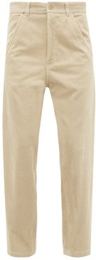 Docker Straight-leg Corduroy Trousers - Womens - Beige