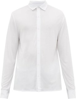 Logo-embroidered Jersey Shirt - Mens - White