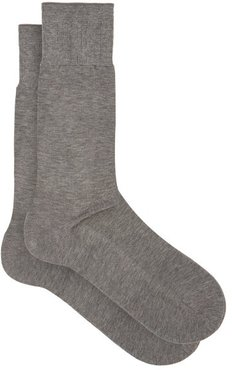 No 9 Cotton-blend Socks - Mens - Grey