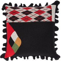 Andrea Scalloped Wool-blend Cushion - Multi
