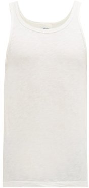 Hanno Slubbed Stretch Cotton-jersey Vest - Mens - White