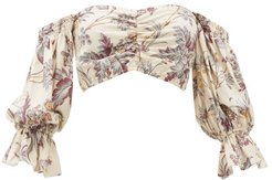 Avery Floral-print Off-the-shoulder Top - Womens - Multi