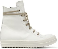 Leather High-top Trainers - Womens - White