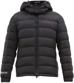 Moon Dust-print Quilted-down Jacket - Mens - Black