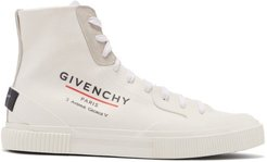 Tennis Light High-top Coated-canvas Trainers - Mens - White