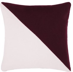 Buttoned Two-tone Cashmere Cushion - Pink Multi