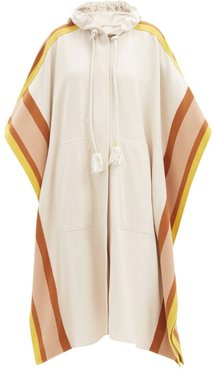 Redwood Side-striped Brushed-twill Poncho - Womens - Cream