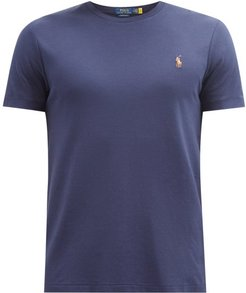 Polo-embroidered Cotton-jersey T-shirt - Mens - Navy
