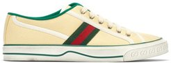 Tennis 1977 Cotton-canvas Trainers - Mens - Yellow Multi