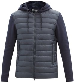 Jersey And Quilted Shell Track Top - Mens - Navy