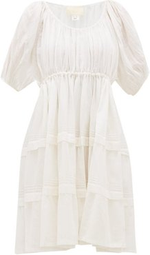 Jaipur Pintucked Cotton-voile Dress - Womens - White