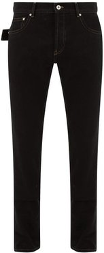 V-stitched Straight-leg Jeans - Mens - Black