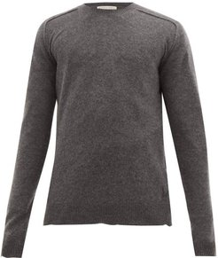 Bv-logo Cashmere Sweater - Mens - Grey