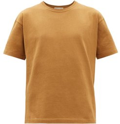 Logo-embroidered Cotton T-shirt - Mens - Beige