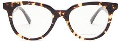 Round Tortoiseshell-acetate Glasses - Womens - Brown