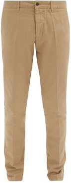 Slim-fit Cotton Chino Trousers - Mens - Beige