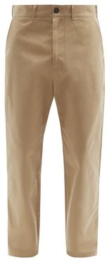 Tapered Cotton-twill Trousers - Mens - Beige