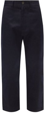 Bill Cropped Cotton-twill Trousers - Mens - Navy