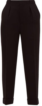 Horley Slim-leg Wool-crepe Trousers - Womens - Black