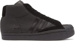 Pro High-top Leather Trainers - Mens - Black