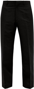 Tailored Wool-blend Trousers - Mens - Black