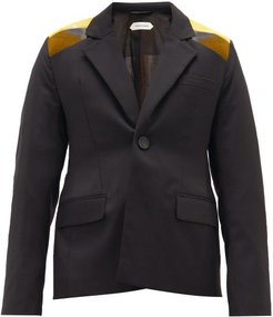 Soohu Embroidered-back Wool Jacket - Mens - Black Yellow