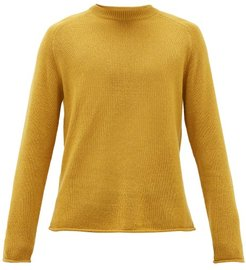 Ulmer Raw-hem Cashmere Sweater - Mens - Yellow
