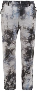 Tie-dye Technical-shell Track Pants - Mens - Grey Multi