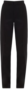 Gaumont Satin Side-striped Wool Tailored Trousers - Womens - Black