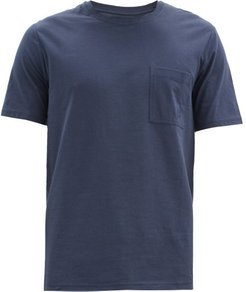 Logo-embroidered Cotton-jersey T-shirt - Mens - Navy