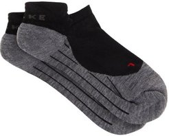 Ru4 Cushioned Trainer Socks - Mens - Black Multi