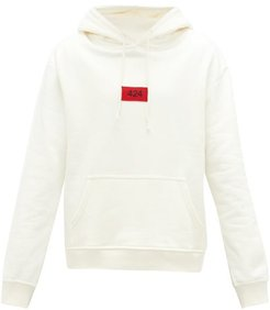424 - Hooded Logo-patch Cotton-jersey Sweatshirt - Mens - Off White