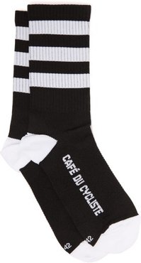 Skate Stripe Stretch-knit Socks - Mens - Black Multi