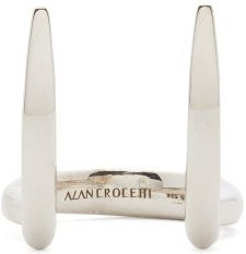 Viper Fang Rhodium-plated Sterling-silver Ring - Mens - Silver