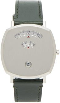 Grip Stainless-steel And Leather Watch - Mens - Silver
