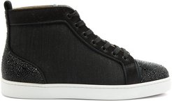 Louis P Strass Ii High-top Canvas Trainers - Mens - Black Multi