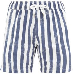 Charles 7 Striped Swim Shorts - Mens - Blue White