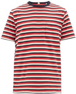Striped Cotton-jersey T-shirt - Mens - Red Multi