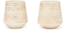 Set Of Two Ceramic Tumblers - Cream