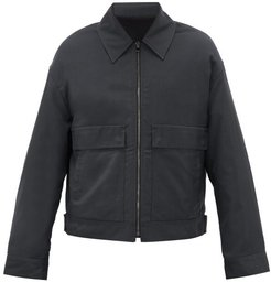 Patch-pocket Technical Jacket - Mens - Dark Green