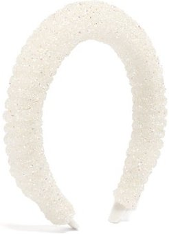 Crystal-embellished Headband - Womens - White